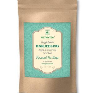 Single Estate Darjeeling Tea First Flush Pyramid Bags - 20 bags x 2g each