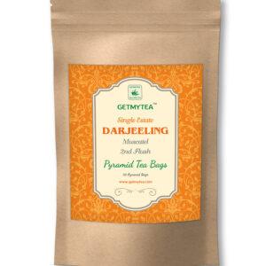 Single Estate Darjeeling Tea 2nd Flush Pyramid Bags - 20 bags x 2g each