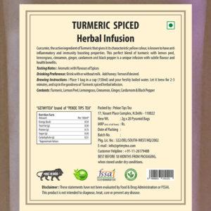 Turmeric Spiced Herbal Infusion Pyramid Bags-20 bags x 2g each